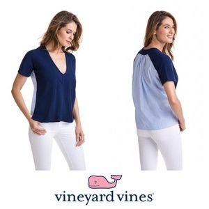 NEW Vineyard Vines Mixed Media V-Neck Sweater SK